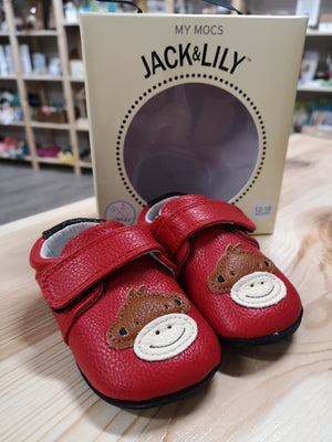 JACK & LILY MONKEY LEATHER SHOES SIZE 12-18M EUC
