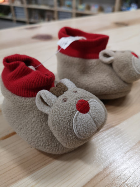 LITTLE BEARS SLIPPERS 0-6M EUC/VGUC