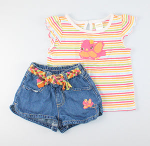 GYMBOREE BIRD OUTFIT 18-24M EUC