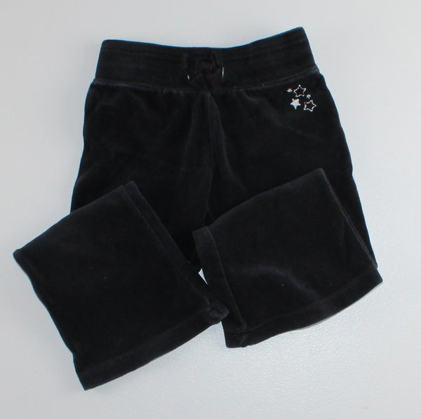 OSH KOSH BLACK VELOUR STAR PANTS 3Y VGUC