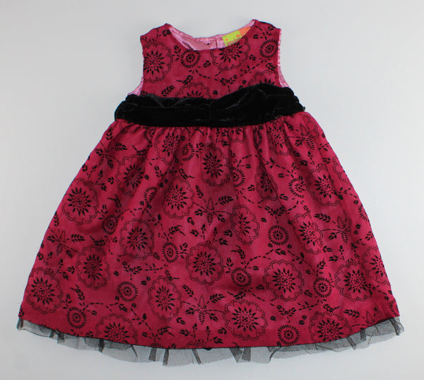 PENELOPE MACK MAROON AND BLACK DRESS 3T VGUC