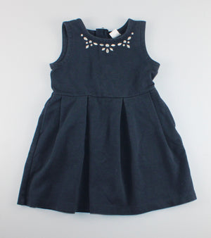 CARTERS SWEATER NAVY DRESS 4Y EUC