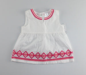 CARTERS WHITE TOP 12M NEW