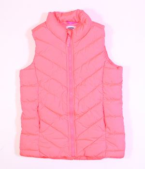 OLD NAVY NEON ORANGE VEST 10-12Y EUC