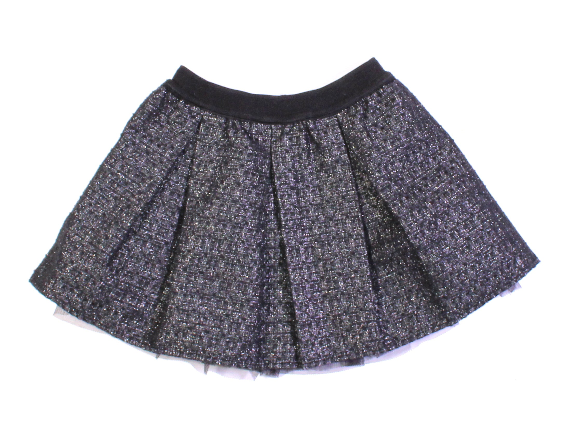 JOE FRESH BLACK GLITTER SKIRT 2Y EUC