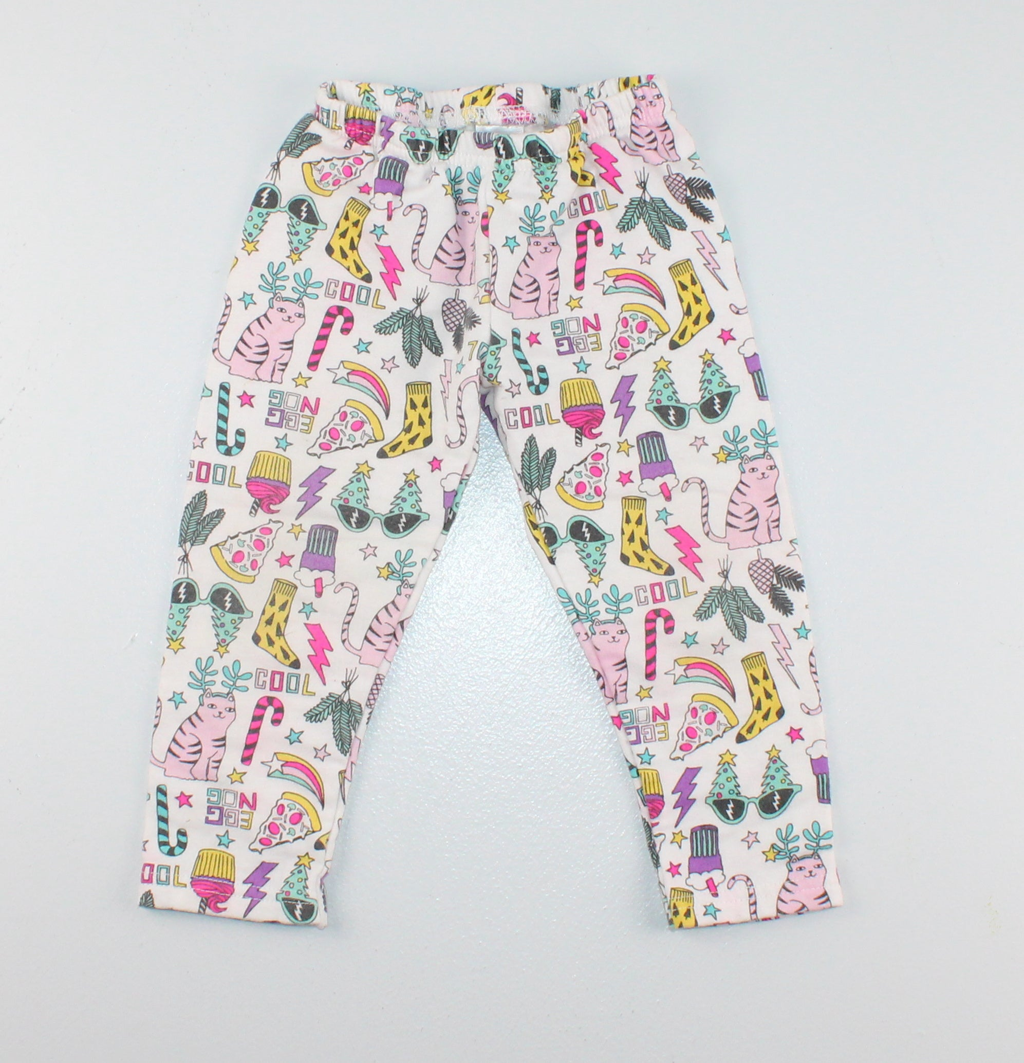 CARTERS HOLIDAY LEGGINGS 24M VGUC