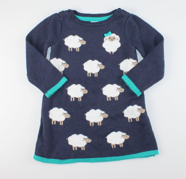 GYMBOREE LAMB SWEATER DRESS 18M VGUC/EUC