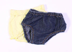 2 PACK BLOOMERS 12M  EUC