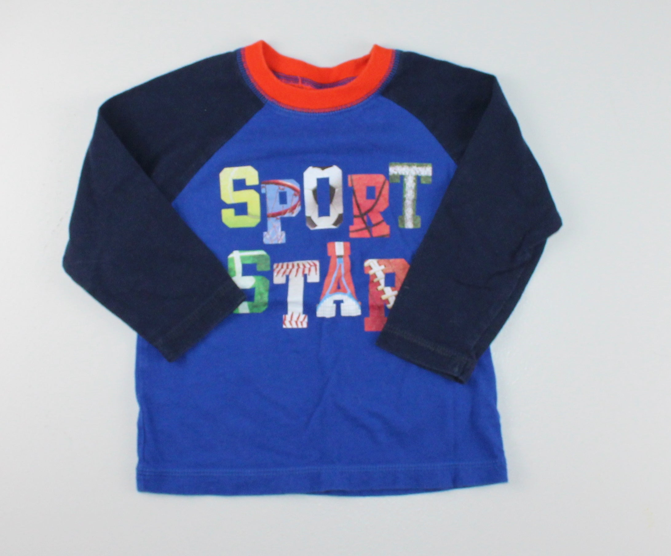 TCP BLUE SPORT STAR SHIRT 18-24M EUC