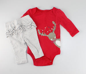 GEORGE HOLIDAY OUTFIT 0-3M EUC