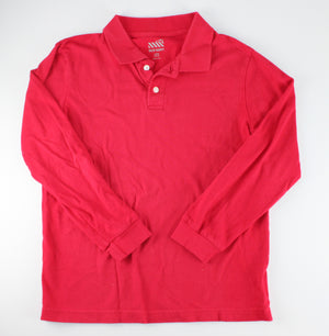 OLD NAVY RED LS TOP 10-12Y EUC