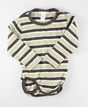 H&M STRIPED ONESIE 9-12M EUC