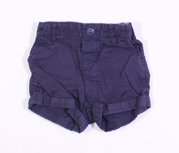 H&M NAVY SHORTS 12-18M VGUC