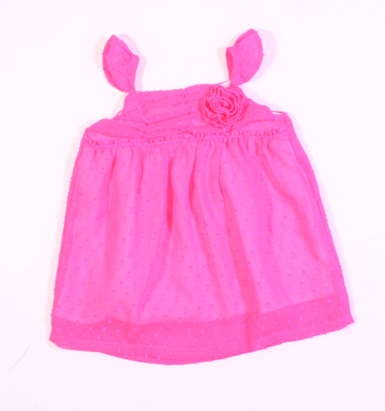 TCP NEON PINK DRESS 6-9M EUC