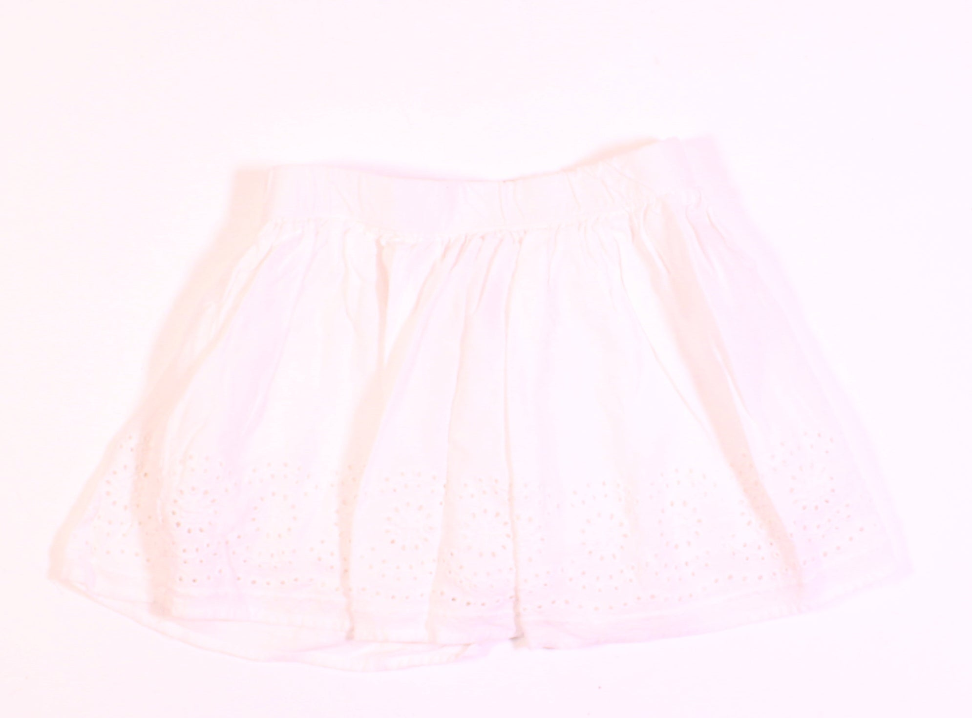 JOE FRESH WHITE EYELET SKIRT 3Y EUC