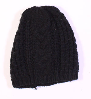 ARDENES BLACK KNIT HAT O/S VGUC