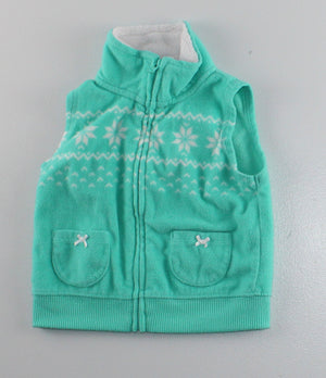 CARTERS FLEECE VEST 9M EUC