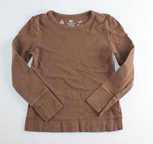 FADED GLORY BROWN LS TOP 4-5Y VGUC