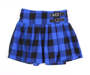 JUSTICE BLUE PLAID SKIRT 12Y EUC
