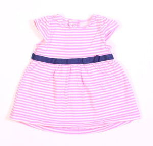 CARTERS PINK STRIPED DRESS 3M EUC