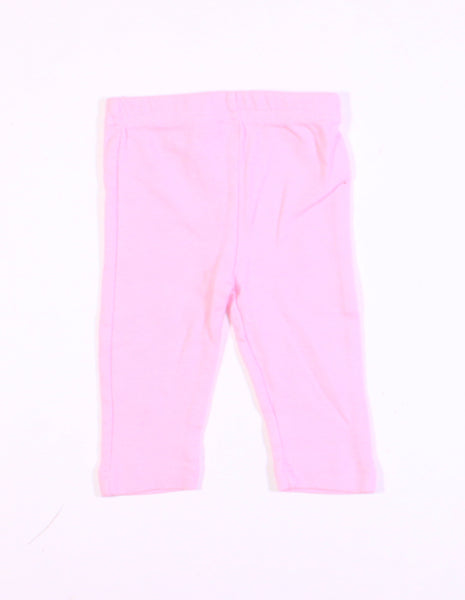 BON BEBE PINK COTTON PANTS 3-6M EUC