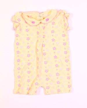 LOVE N CUDDLES YELLOW ROMPER 6M EUC