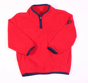 OSH KOSH RED FLEECE SWEATER 24M EUC