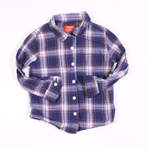 JOE FRESH PLAID TOP 4Y EUC