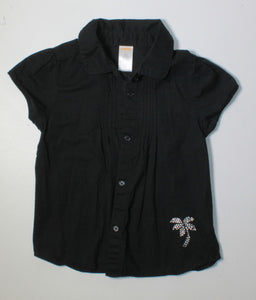 GYMBOREE PALM TREE COLLARED TOP 6Y EUC