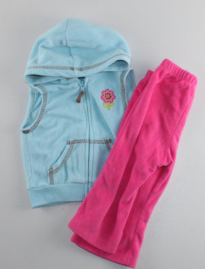 CARTERS 2 PIECE FLEECE OUTFIT 9M VGUC