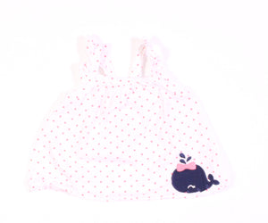 GYMBOREE POLKA DOT TOP 3-6M VGUC