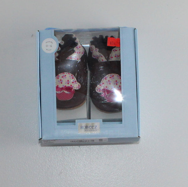 ROBEEZ CUPCAKE SHOES SIZE 0-6M EEUC/NEW