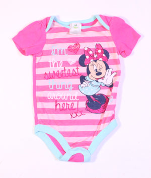 DISNEY MINNIE ONESIE 12-18M  EUC
