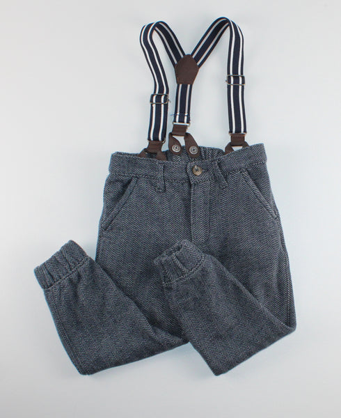 JOE FRESH SOFT PANTS WITH SUSPENDERS 3Y EUC