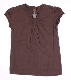 OLD NAVY BROWN TEE 14Y VGUC