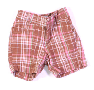 OSH KOSH PLAID SHORTS 2T EUC