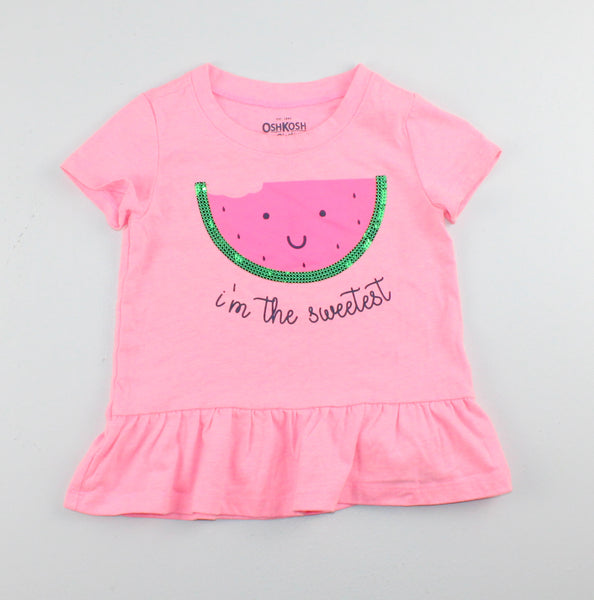 OSH KOSH WATERMELON TOP 2Y EUC