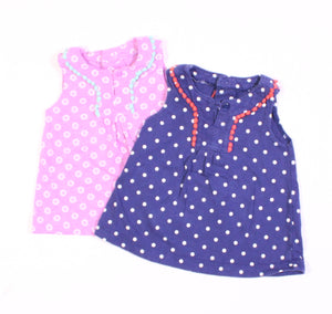 CARTERS 2 PACK TOPS 3M EUC