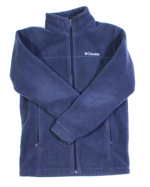COLUMBIA BLUE FLEECE COAT/SWEATER 14/16Y EUC