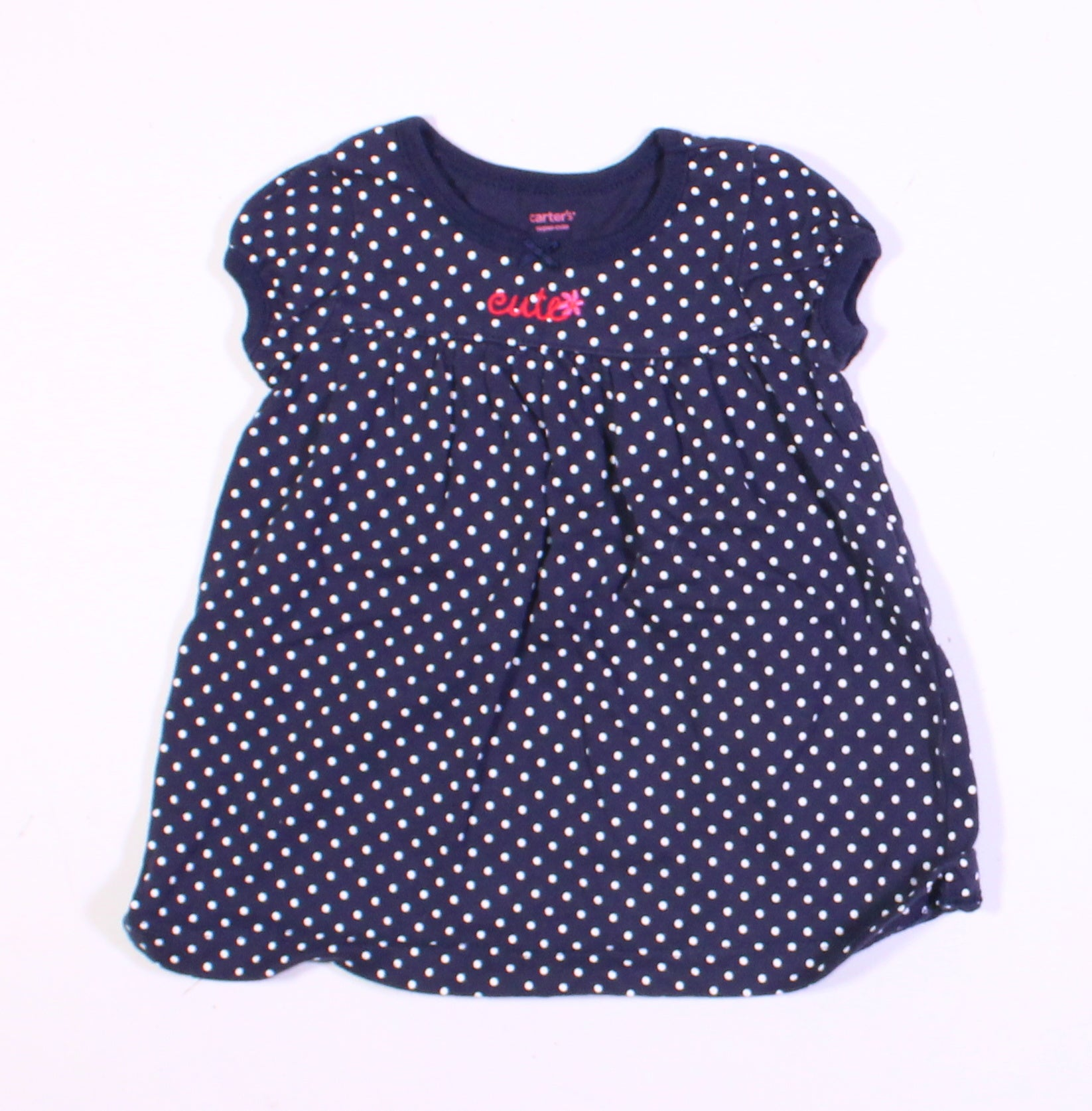 CARTERS NAVY CUTE DRESS 3M EUC