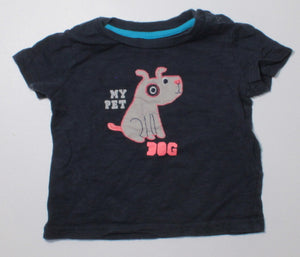JOE FRESH DOG TEE 6-12M EUC