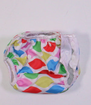 ADJUSTABLE REUSABLE DIAPER APPROX DIAPER SIZE 3-6 EUC