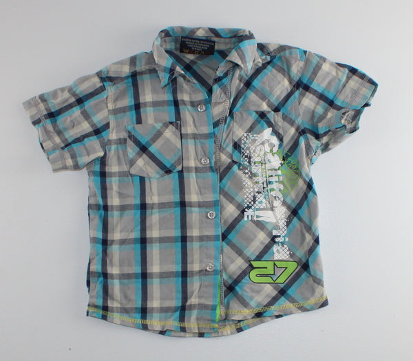 RDST BLUE PLAID SHIRT 3T VGUC