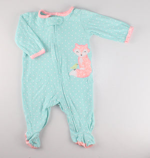 CARTERS FOX COTTON PJS 3M VGUC