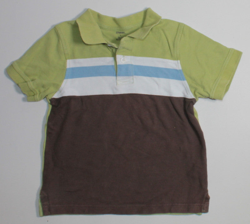 GYMBOREE BROWN, BLUE & GREEN SL TOP 5Y VGUC