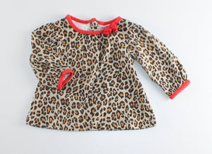 CARTERS ANIMAL PRINT LS TOP 6M EUC