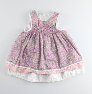 TCP PURPLE DRESS 6-9M EUC