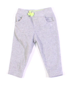 CARTERS FLEECE GREY PANTS 9M VGUC