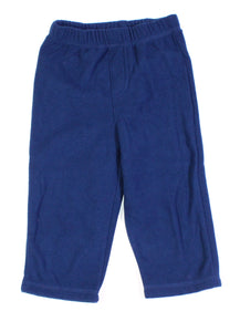 CHEROKEE FLEECE BLUE PANTS 12-18M EUC