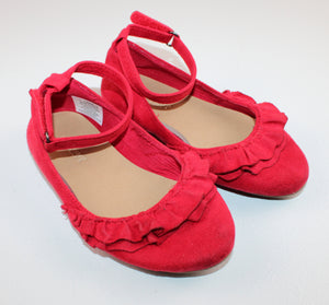 OLD NAVY RED SUEDE FLATS SIZE 9 VGUC